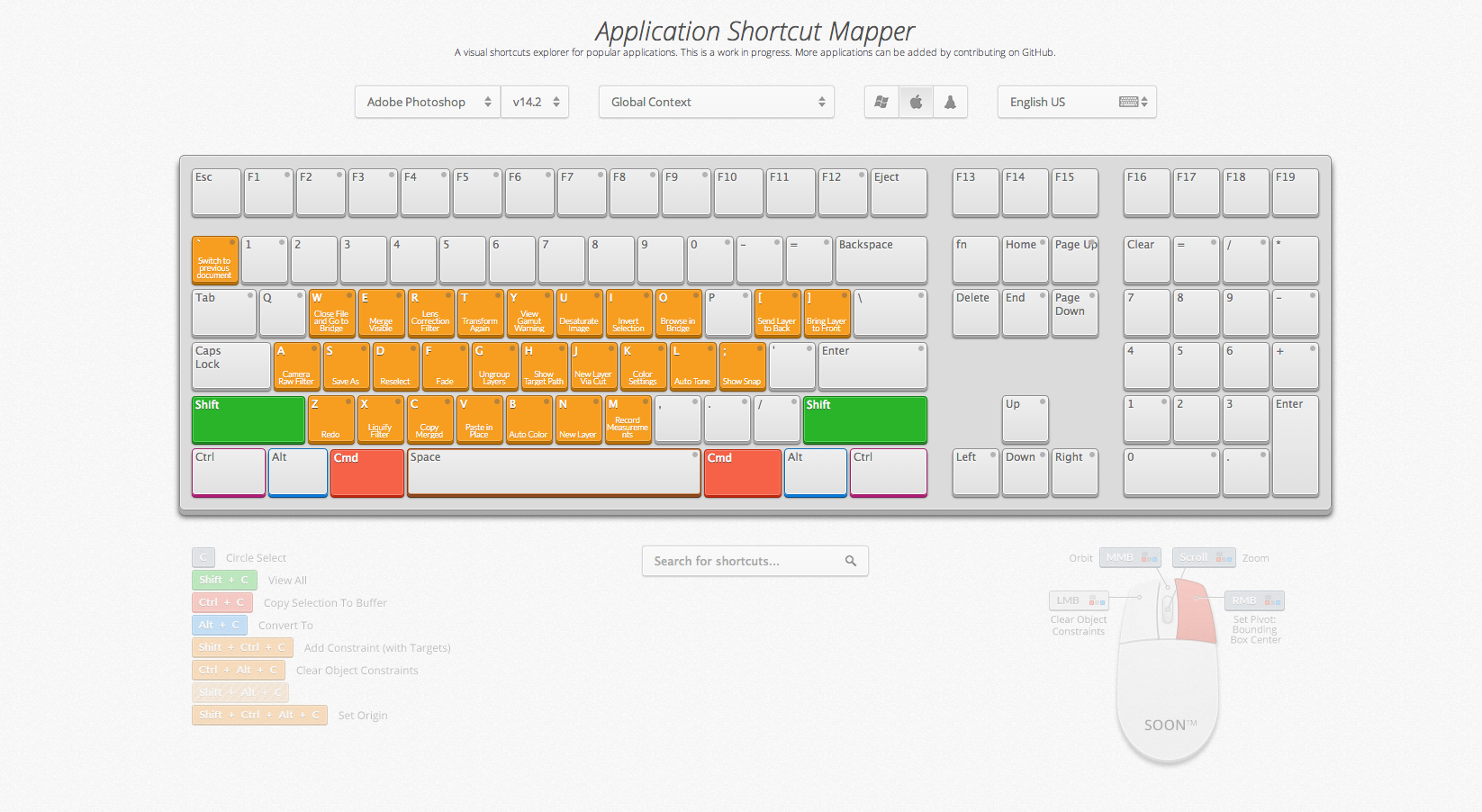 keyboard shortcut mapper